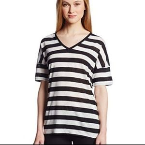 🎉Host Pick🎉 NYDJ Sporty Linen Blend Striped Top